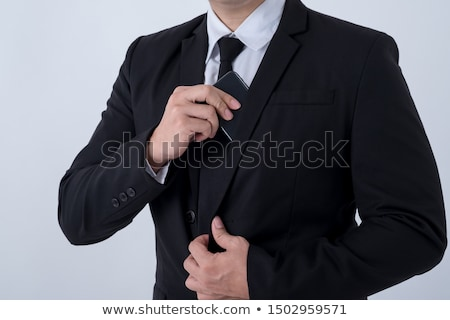 Businessman hand in inner pocket Stock photo © simply