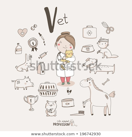 Cute cat icons, set V Stock photo © sahua