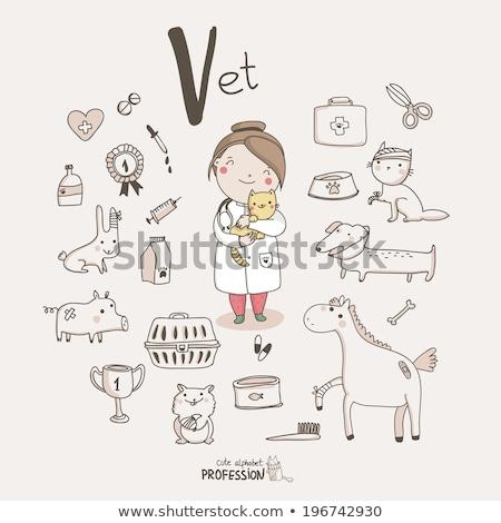 cute cat icons set v stock photo © sahua