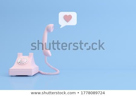 3d Illustration of vintage hearts mockup background Stock photo © tussik