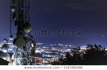 Telekommunikation Satelliten Radio groß Himmel Telefon Stock foto © vichie81