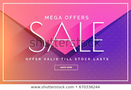 abstract mega sale discount voucher template design Stock photo © SArts