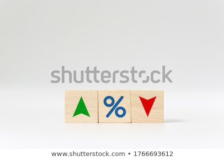 home profits up and down arrow business graph Stock photo © alexmillos