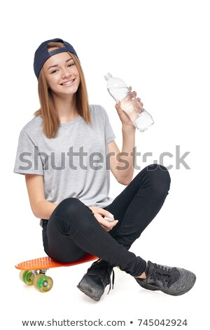 Teen Girl Holding Water Bottle Stock photo © dtiberio