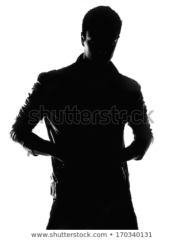 Dramatic Portrait Of A Young Man In Leather Jacket Stock