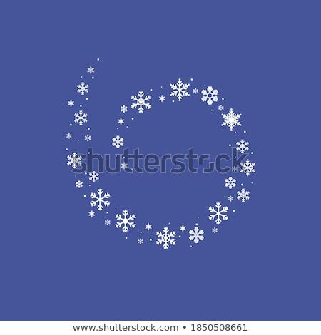 синий спиральных темноте Рождества потока Сток-фото © SwillSkill