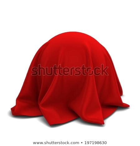 rosso · satinato · tessuto · sfondo · Natale · tessili - foto d'archivio © pakete