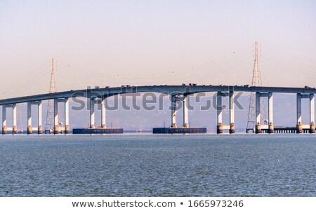 yat · köprü · yelkencilik · otoyol · inşaat · seyahat - stok fotoğraf © benkrut
