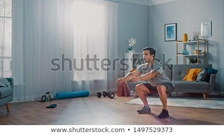 спортсмен спортзал портрет сильный спортсмена Бар Сток-фото © julenochek