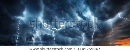 Kasırga gökyüzü fırtına hava durumu bulutlar atmosfer Stok fotoğraf © ixstudio