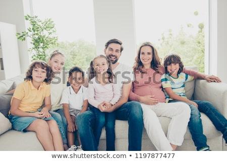 szczęśliwy · duży · portret · rodzinny · babcia · dziadek · matka - zdjęcia stock © sgursozlu