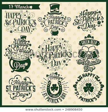 Vacances irlandais festival objets chapeau Photo stock © yopixart