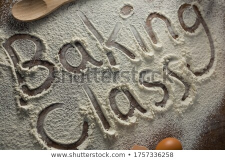 The word baking class written on sprinkled flour Stock photo © wavebreak_media