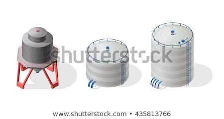 Metálico reservatório industrial energia armazenar químico Foto stock © martin33