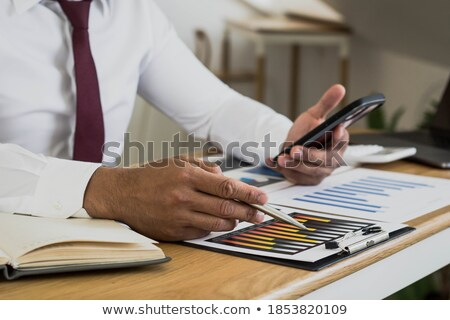 üzletember bár mobil férfi telefon portré Stock fotó © IS2