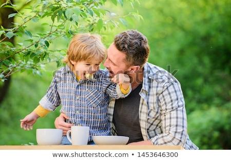 vader · kind · indian · familie · dining - stockfoto © is2