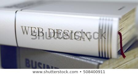 boek · titel · wervelkolom · bewondering · 3D - stockfoto © tashatuvango