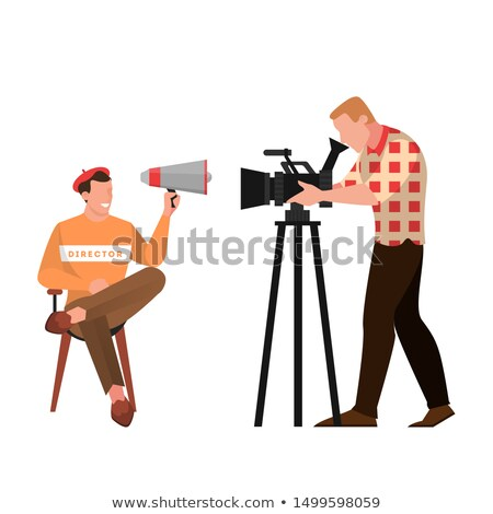 Man directing through megaphone Stock photo © IS2