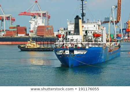Stock photo: Odessa cargo port.