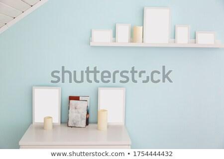 Vazio foto quadros prateleira de livros ver Foto stock © LightFieldStudios
