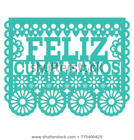 Vektor terv mexikói művészet boldog születésnapot buli Stock fotó © RedKoala