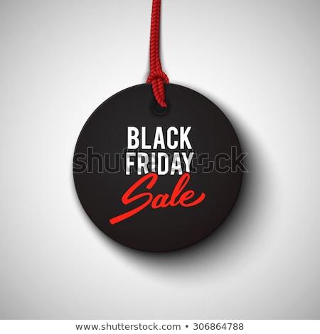 Zwarte woorden black friday grijs 3d illustration Stockfoto © Oakozhan