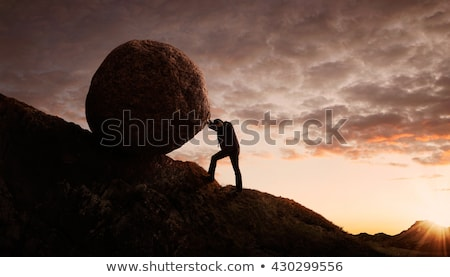 business concept -  uphill struggle Stock photo © godfer