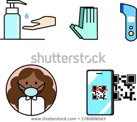 isometric outline icons set 19 stock photo © sidmay