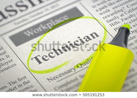 Onderhoud ingenieur 3D baan vinden jobs Stockfoto © tashatuvango