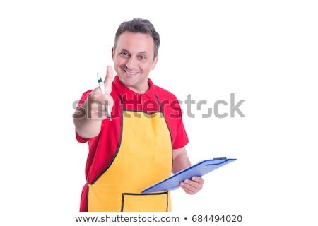 Eladó ír vágólap pult élelmiszer bolt Stock fotó © wavebreak_media