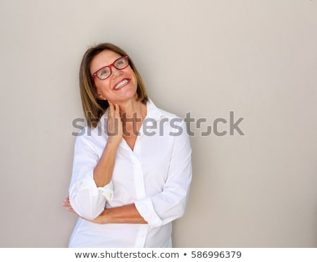 portret · senior · vrouw · naar · nadenkend · denken - stockfoto © monkey_business