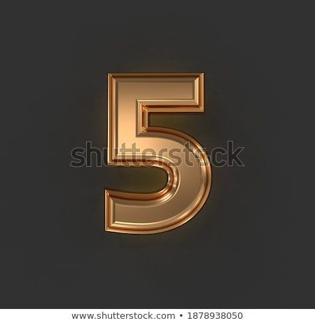 Set of letters, numbers and symbols from gold bars. 3D Stock photo © user_11870380