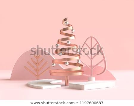 クリスマス 抽象的な ツリー 3D レンダリング クリスマスツリー ストックフォト © user_11870380