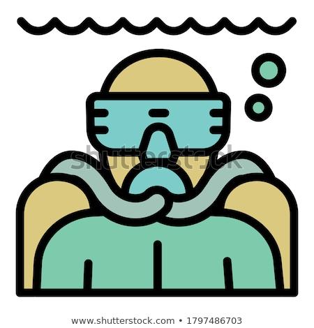 Stock photo: girl makes snorkeling