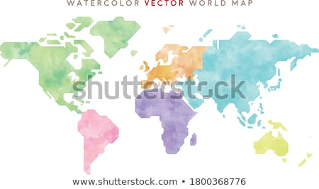 Terra globo ilustração planeta seis mapa do mundo Foto stock © articular