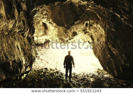 A sunrise at the cave entrance Stock photo © bluering
