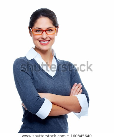 улыбаясь секретарь изолированный белый женщину моде Сток-фото © Minervastock