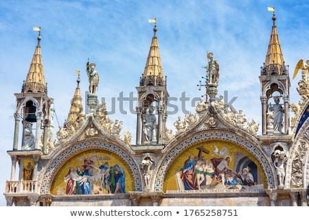 Fachada famoso basílica Florencia amanecer cielo Foto stock © Givaga