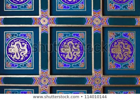 красочный · китайский · потолок · украшенный · традиционный · здании - Сток-фото © nuttakit