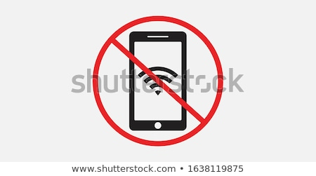 Wifi signal forbidden symbol icon Stock photo © romvo
