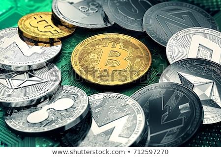 Bitcoinの マザーボード 金貨 バーチャル 通貨 コンピュータ ストックフォト © grafvision