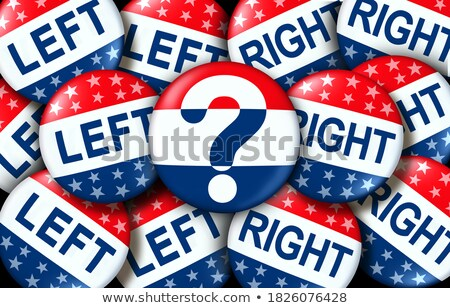 Left And Right Vote Badges Stock photo © Lightsource