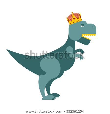 Tyrannosaurus Dinosaur King. T-Rex most important prehistoric mo Stock photo © popaukropa