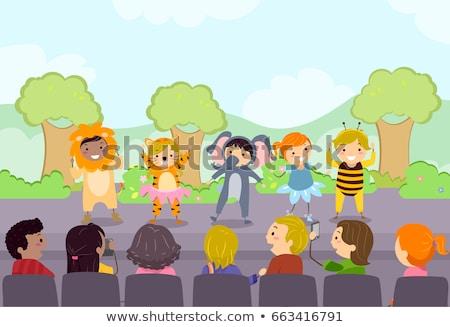 school · kinderen · ouders · illustratie · omhoog · een - stockfoto © lenm