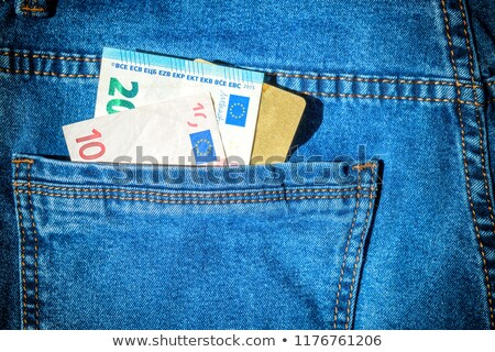 визы карт евро наличных джинсов кармана Сток-фото © vapi