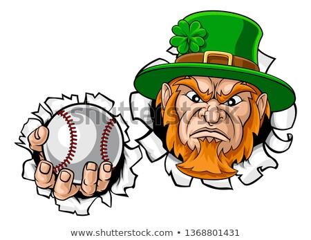 Stock fotó: Manó · tart · baseball · labda · sportok · kabala