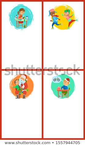 letter to santa claus handicraft presents poster stock photo © robuart