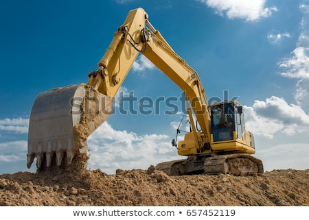 Excavator Construction Machine with Dig Bucket Stock photo © robuart