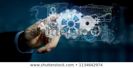 gegevens · integratie · metaal · versnellingen · mechanisme · computer - stockfoto © nasirkhan