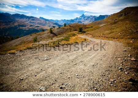 Scene with road to the mountains Stock photo © colematt